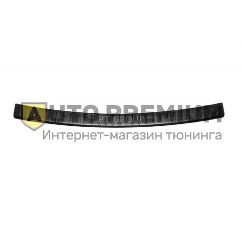 Накладка на задний бампер (ABS, черное тиснение) на LADA XRAY с 2016